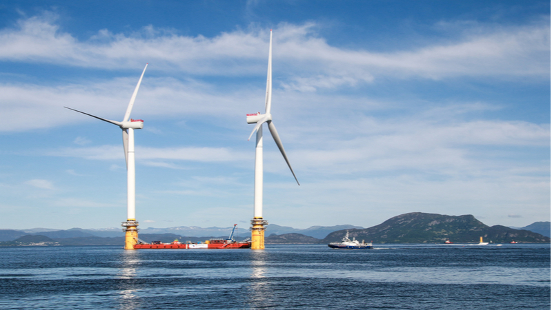 Turbines are transported to Hywind in Scotland, the world's first floating wind farm (Credit: Shutterstock)