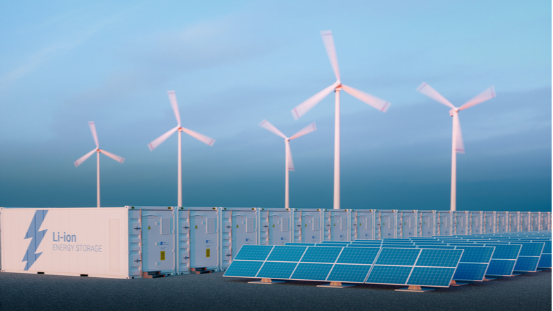 Stock image. More than 16.1GW of battery storage capacity is operating, under construction or being planned in the UK (Credit: Shutterstock)