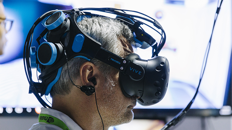 Neurable's hands-free headset allows you to control a video game with your mind (Credit: Neurable)