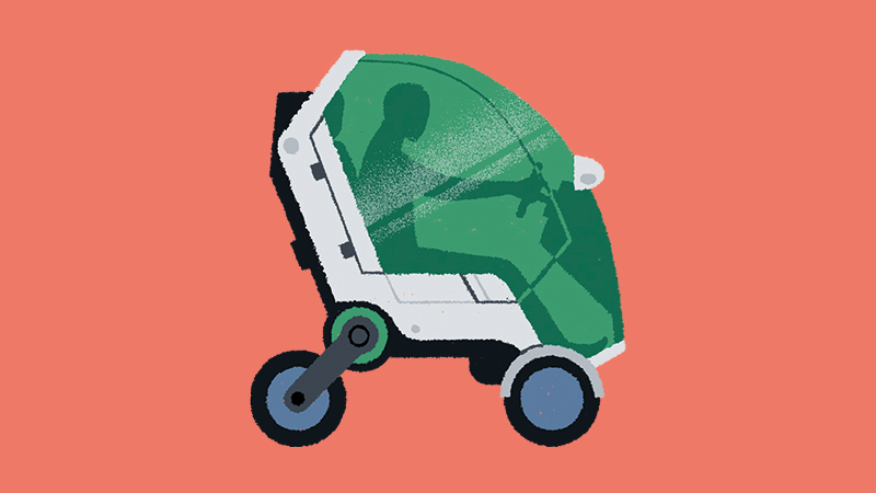 'Electric scooters out now are pretty rudimentary, but I expect to see some tiny shared vehicles that are electric, safer and maybe even more comfortable' (Credit: Matt Clough)