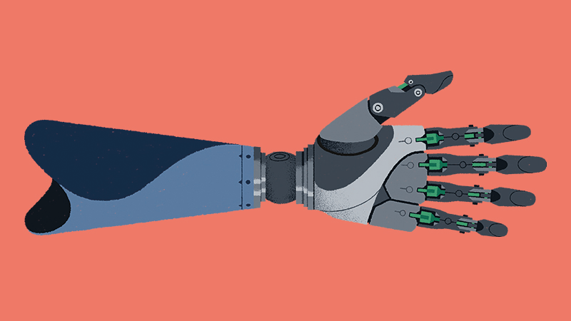 'The body could use nano-robots to deliver energy to prosthetics' (Credit: Matt Clough)