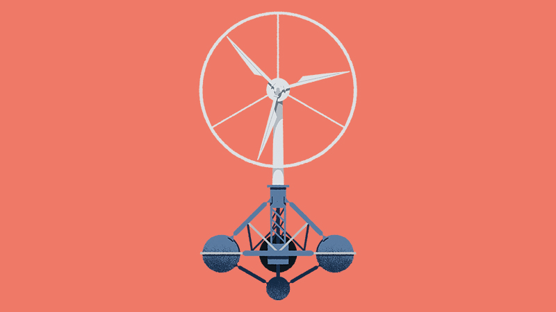 'Floating turbines offer cost reductions and deployment in deeper waters' (Credit: Matt Clough)
