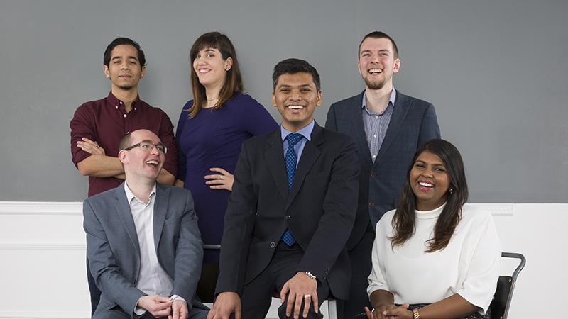 Some of our rising stars. From left to right: Younes Chahid, Benjamin Mills-Wallace, Rita da Silva, Siddartha Khastgir, Tom Garwood and Roshni Wijesekera (Credit: Will Amlot)