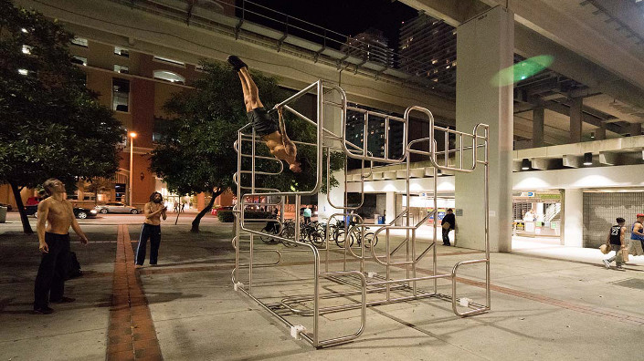 Miami's Brutal Workout VI installation is all about art and fitness
