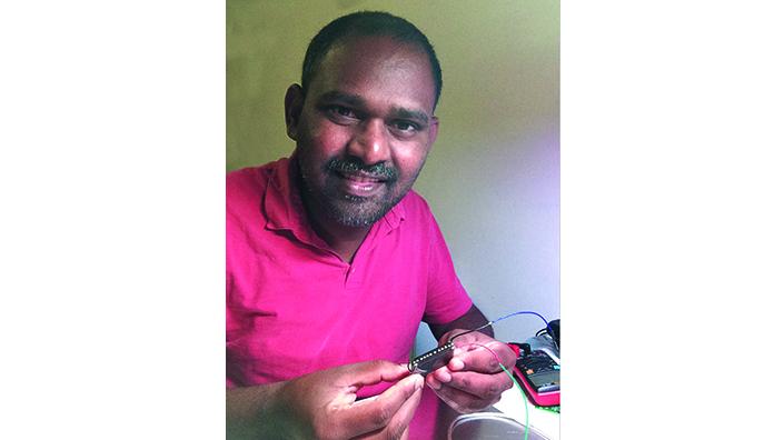 Suresh Kaluvan, inventor of the Betalight Voltaic battery