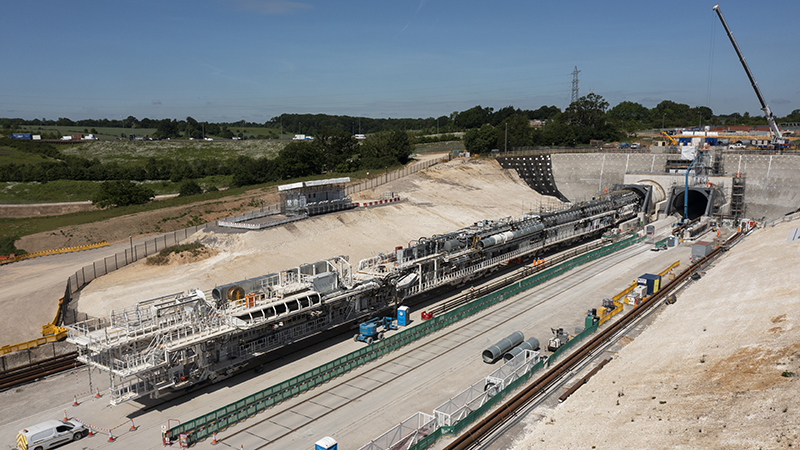 The launch of an HS2 tunnel boring machine in June (Credit: HS2 Ltd)