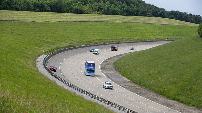 Vehicles transmit near-instantaneous data from the track, enabling immediate analysis