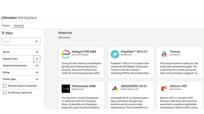 UM marketplace filter feature