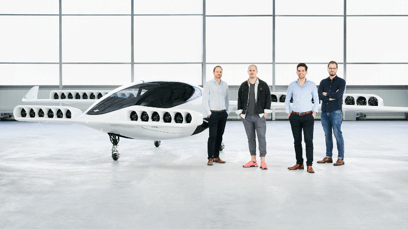 Lilium's new tilt-rotor flying taxi (Credit: Lilium)