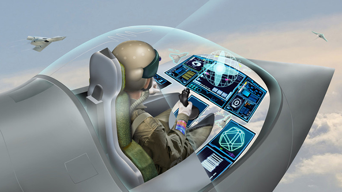 An artist's impression of how the virtual cockpit could look (Credit: BAE Systems)