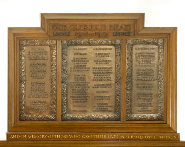 War Memorial Tablet