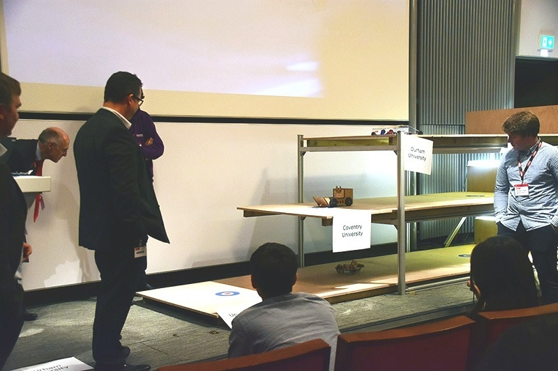 National Final of 2017's Design Challenge which also tasked students to design and build a repeatable vehicle