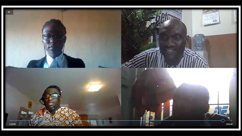 From top-left: Miss Chinaza B, Ikechukwu G. Okoli, Emmanuel Ikpatt, and Abayomi Adeyemi during the first-ever Nigeria virtual heat