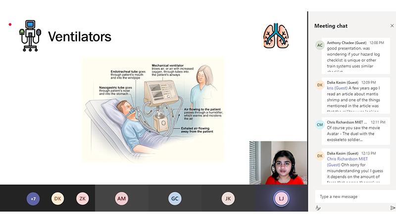 Shefali Vishwakarma giving her presentation