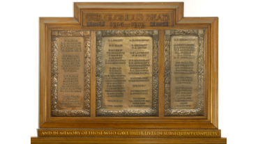 Our World War I Honour Roll