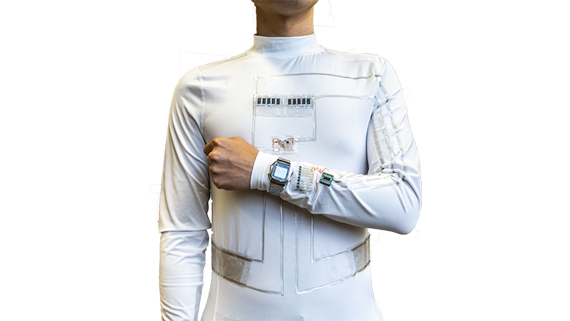 'Wearable microgrid' harnesses energy from sweat and movement Image