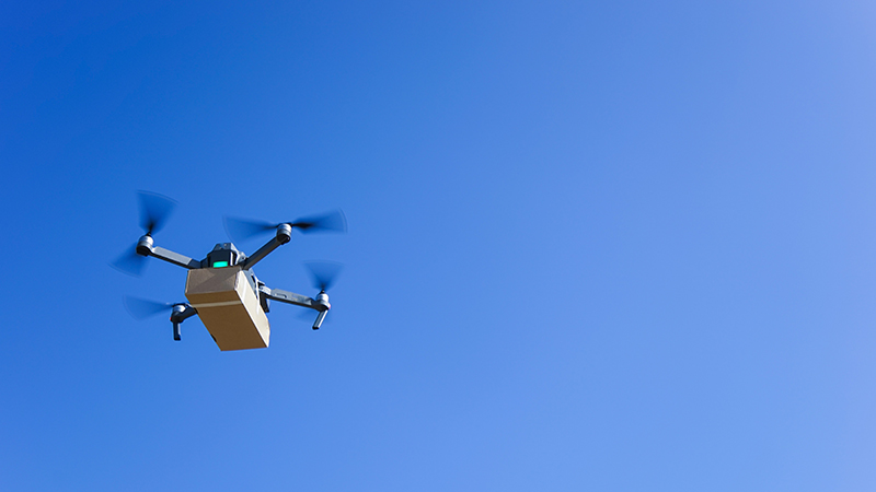 Delivery drones 'could halve freight emissions'  Image