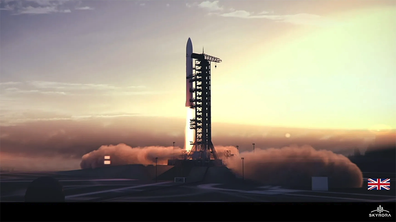 How a launch by UK rocket firm Skyrora could look (Credit: Skyrora)