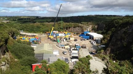 The Rosemanowes site near Penryn in Cornwall